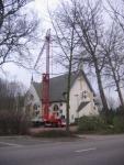 Herstel van stormschade aan de Kerk